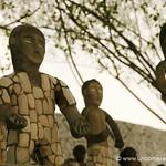 Sculptures at Nek Chand's Rock Garden - Chandigarh, India