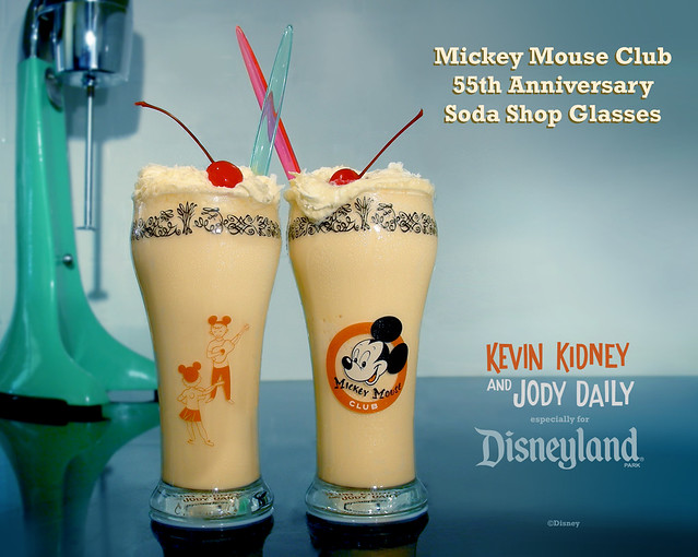 Mickey Mouse Club Soda Shop Glassware