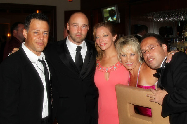 Louis Mandylor, Erik Argenti, Angela Tropea, Debbie Golden, and Carlo Rodriguez right before the awards banquet gala at Action on Film Festival 2010