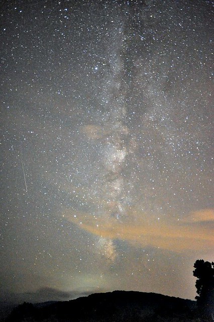Milky Way with Perseid Meteor