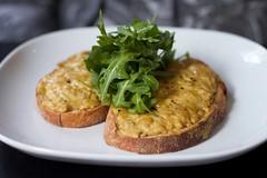meal, breakfast, vegetable, frittata, vegetarian food, bruschetta, produce, food, dish, cuisine,
