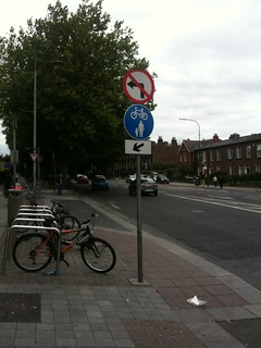 Footpath cycle lane