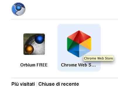 Ecco l'icona del Chrome Web Store