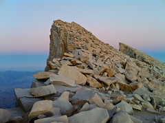Mt. Whitney's Claws/Talons at Sunset