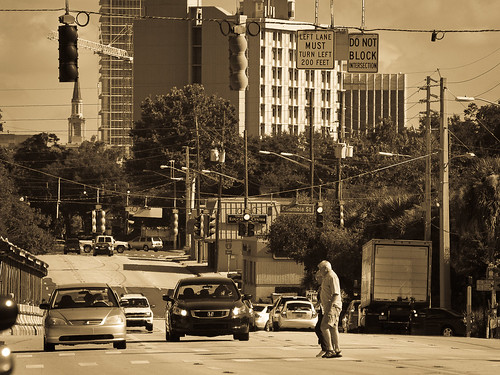 Downtown Orlando Orange Ave - test shot OM 65-200mm