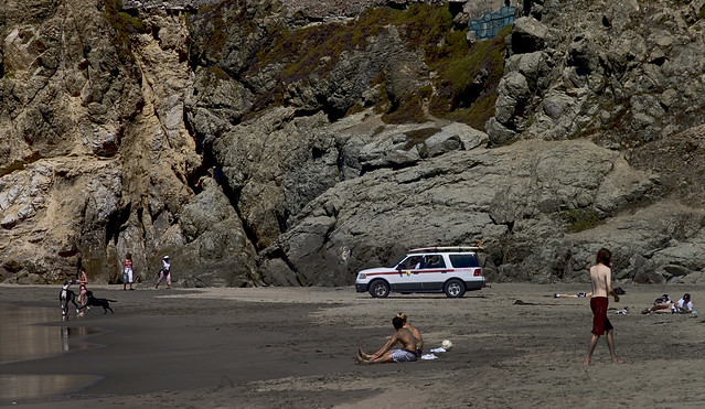 people at ocean beach, san francisco (2009)