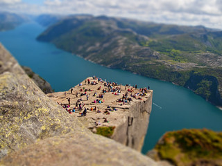 Pulpit rock / Tilt-shift