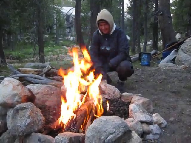 3012 Video of our campfire in the early evening in Rafferty Canyon