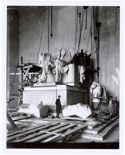 Photograph of the Abraham Lincoln Statue Installation in the Lincoln Memorial, Washington, D.C., 1920