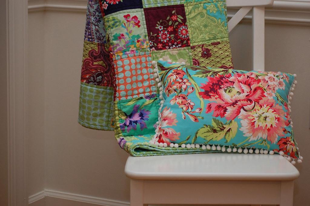 LOVE pillow + LOVE quilt
