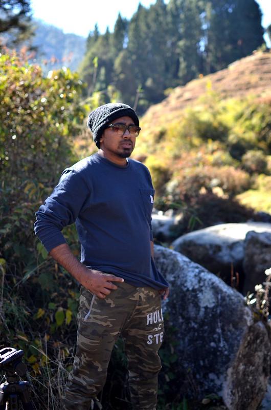 Standing near Gorkhey river, Darjiling - Tanmoy Biswas