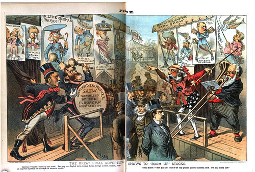 great rival advertising shows to boom up stocks, the (1883)