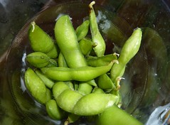flower(0.0), plant(0.0), fruit(0.0), dish(0.0), crop(0.0), gourd(0.0), vegetable(1.0), produce(1.0), edamame(1.0), food(1.0), cuisine(1.0),