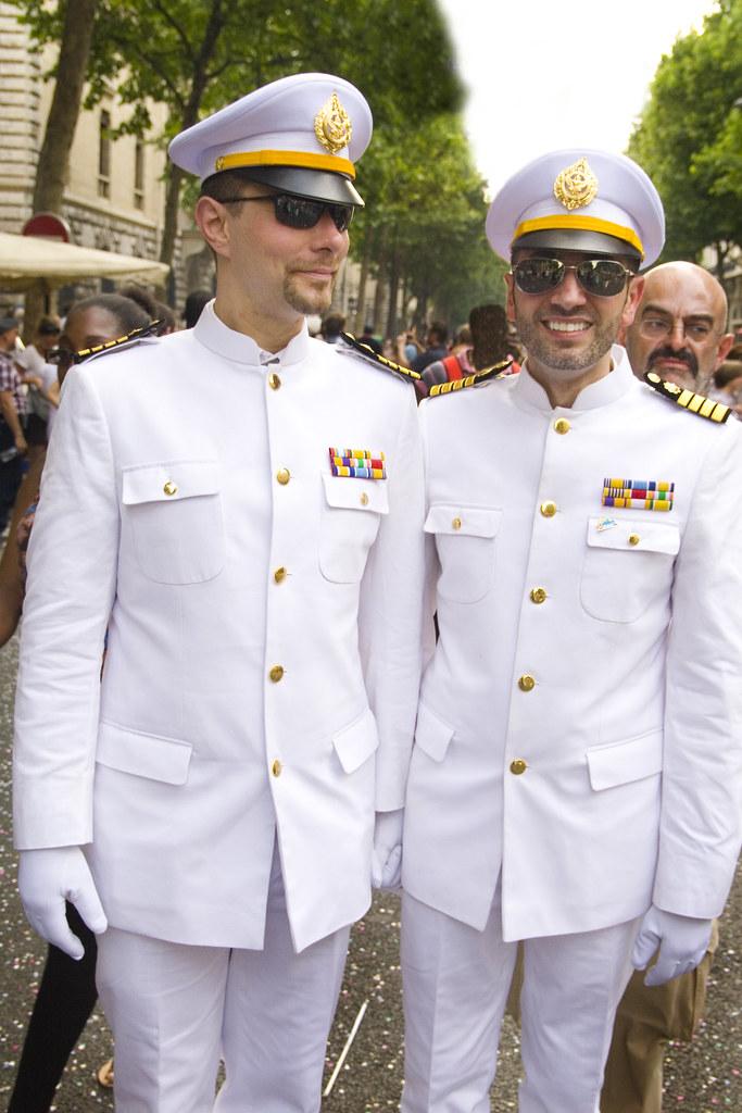Navy lesbian kiss