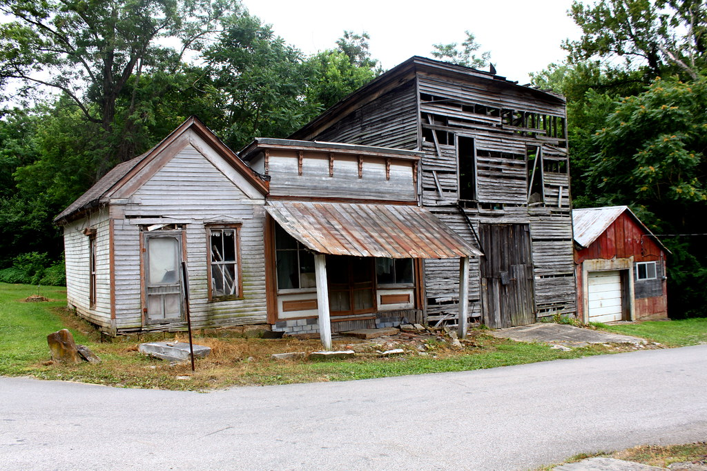 Abandoned buildings old leavenworth indiana a photo for Home builders in southern ohio