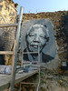 Nelson Mandela painted portrait P1040795 by Abode of Chaos