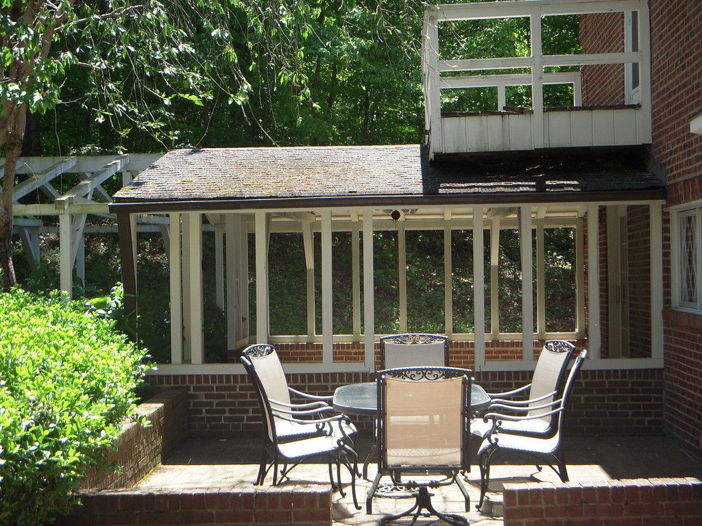 Patio, Covered Porch and Deck off Master Bedroom | Lothian ...