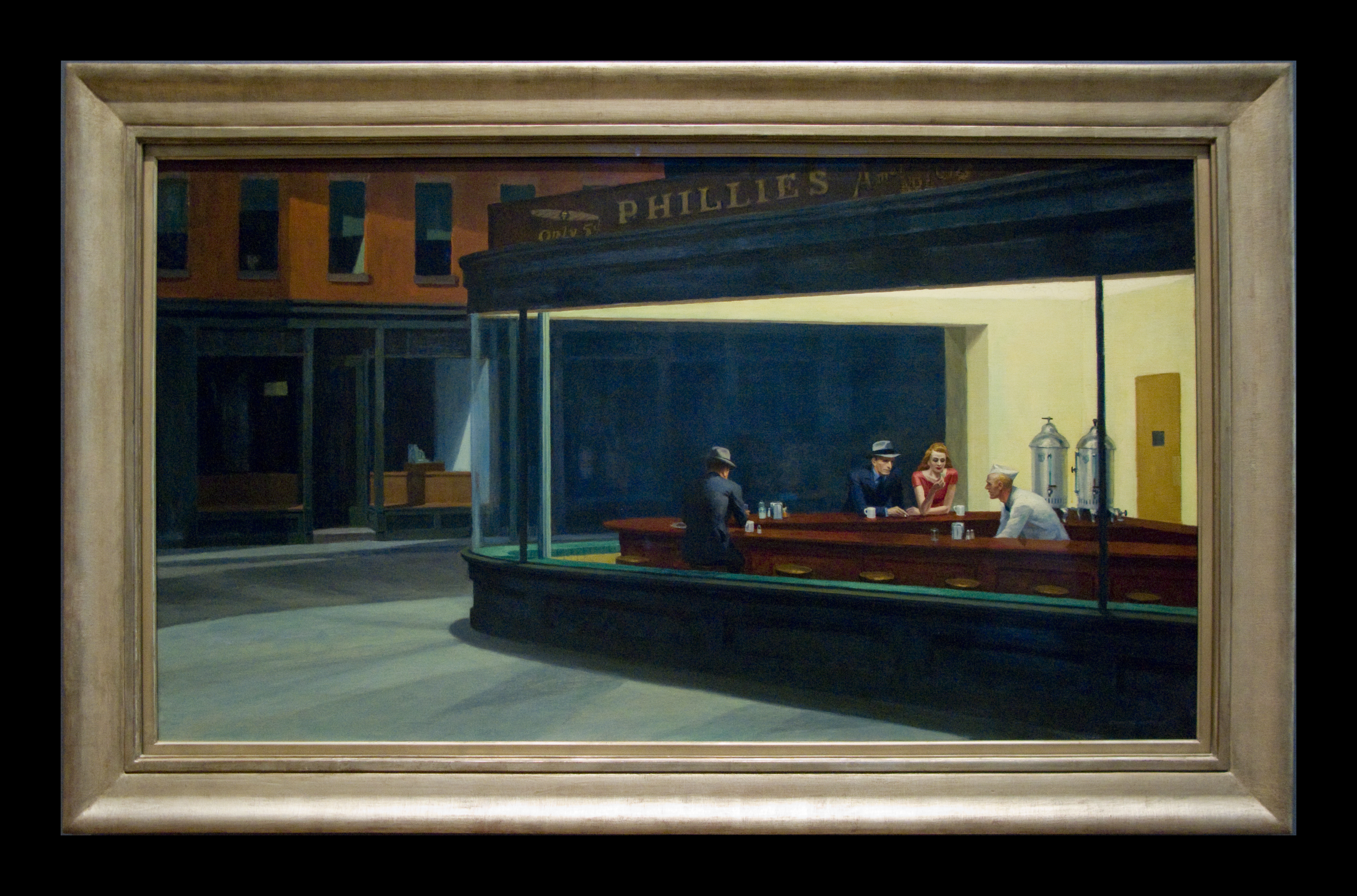 Nighthawks by edward hopper edward hopper 39 s painting is for Diner painting
