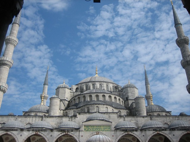 Impressive View of Blue Mosque from Forecourt