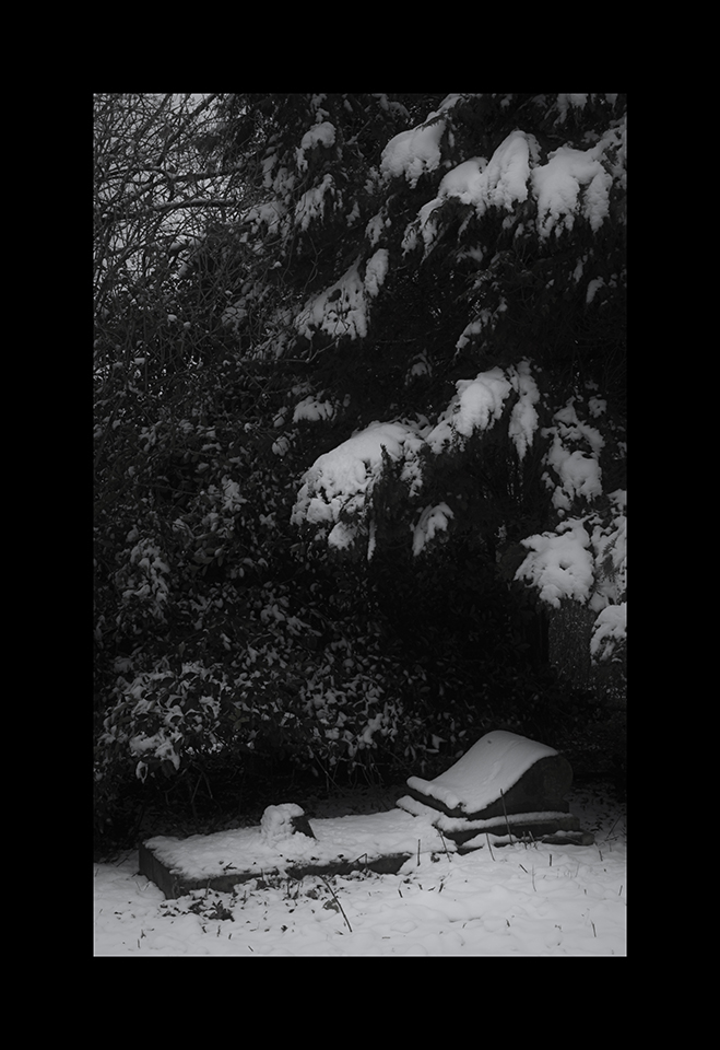 Photography: Snow Covered Grave by Nicholas M Vivian