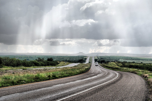 road sun west rain clouds truck landscape shower highway texas view route western vista rays mesa westbound 114