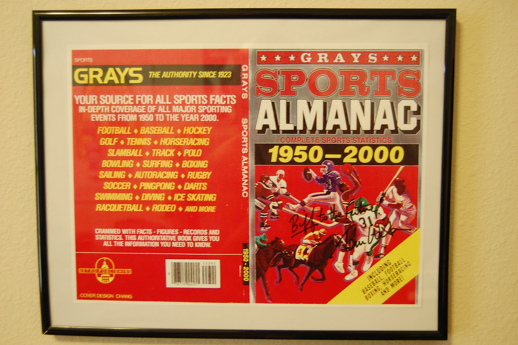 Back to the Future Signed Almanac Prop