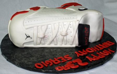 Nike Air Jordan XIV Shoe 23rd Birthday Cake Top a photo on