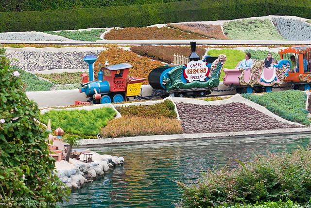 Disneyland Aug 09 - Riding the Casey Jr.