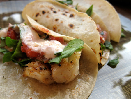 Bring the baja to your kitchen easy fish tacos with for Crema for fish tacos