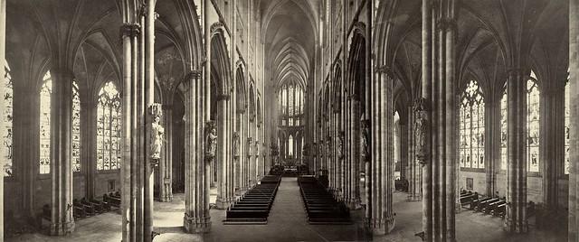 Kölner Dom, interior panorama, 1865-1895