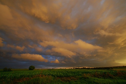 sunset clouds rural nebraska dusk thunderstorm mattsteinhausen