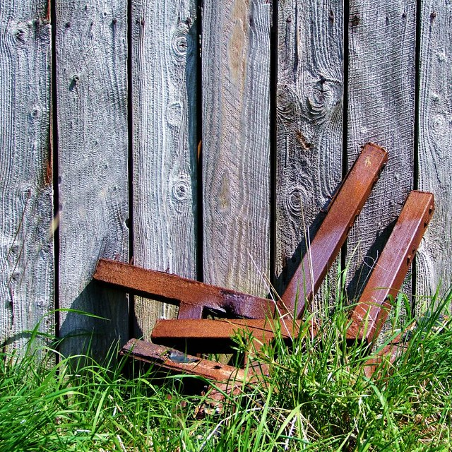 Rust by the shed