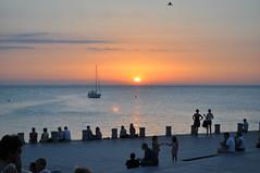 Sunset on a Malmo beach