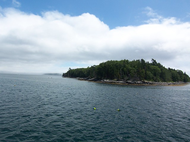 rounding the corner on one of the porcupine islands