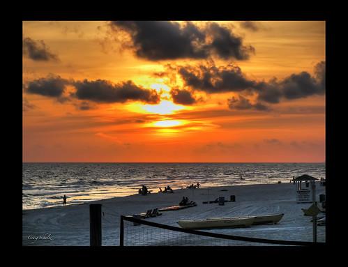 ocean sunset sky beach twilight florida daytona mywinners