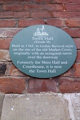 Photo of Town Hall, Beccles green plaque