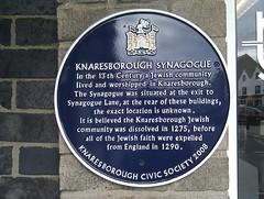 Photo of Knaresborough Synagogue blue plaque