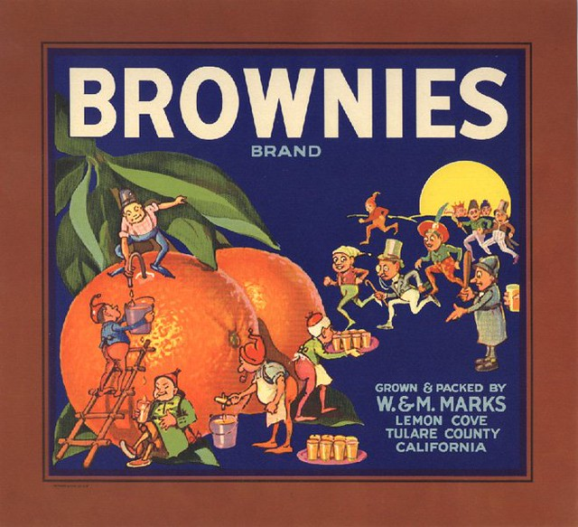 Brownies Orange Crate Label