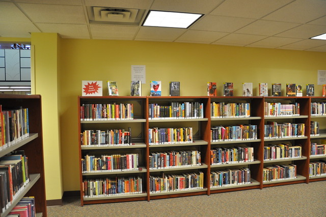Teen Fiction books have a new home on the lower level.