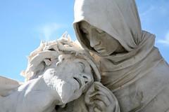 """France, Bouches-du-Rhône (13), Marseille, Notre-Dame de la Garde """" La Passion du Christ """", parvis. """""""