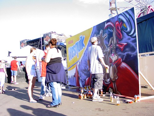 Street Art Event Performance Outdoor Marketing - Milwaukee Marketing Agency ALT TERRAIN - Nesquik