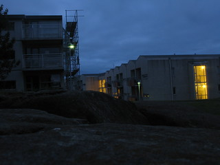 Las residencias de estudiantes, de noche