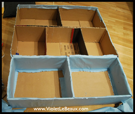 Diy cardboard furniture violet lebeaux tales of an ingenue for How to make a dresser out of cardboard