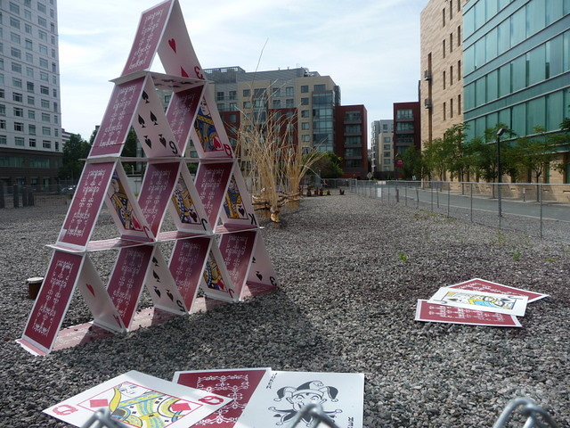 """Kendall Square - Lisa Greenfield's """"House of Cards"""" - Cambridge, MA"""