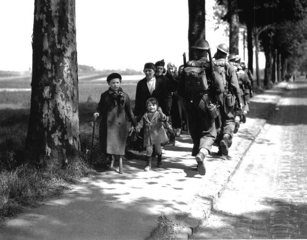 French refugees near Louvain, May 1940