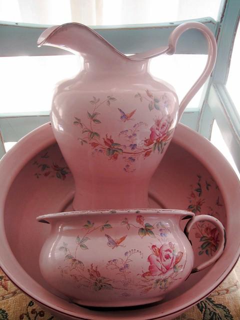 Antique Blue Enamelware Coffee Pot