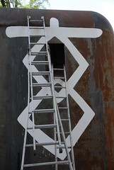 iron, ladder,