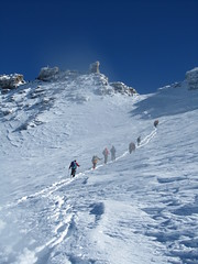 climbing(0.0), downhill(0.0), adventure(1.0), winter sport(1.0), mountain(1.0), sports(1.0), recreation(1.0), outdoor recreation(1.0), mountaineering(1.0), mountain range(1.0), ice(1.0), ski touring(1.0), extreme sport(1.0), ski mountaineering(1.0),