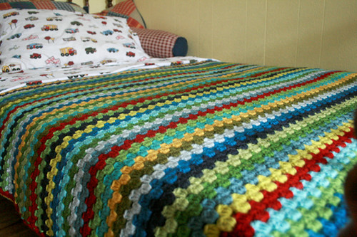 Owen's Granny Stripe Finished!!