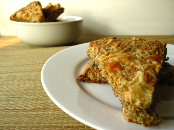 Savory Scallion and Cheddar Cheese Scones
